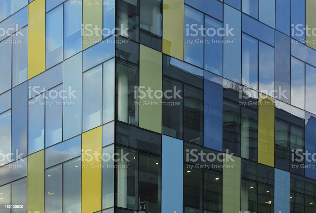 colorful office windows royalty-free stock photo