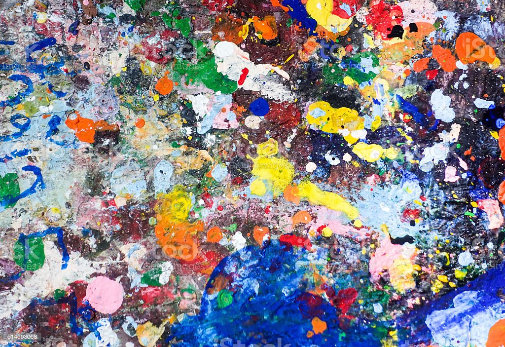 colorful oil painting brushstrokes texture background stock photo