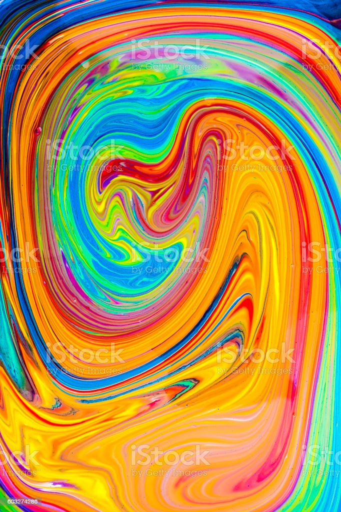 Colorful Oil Painting Spiral stock photo