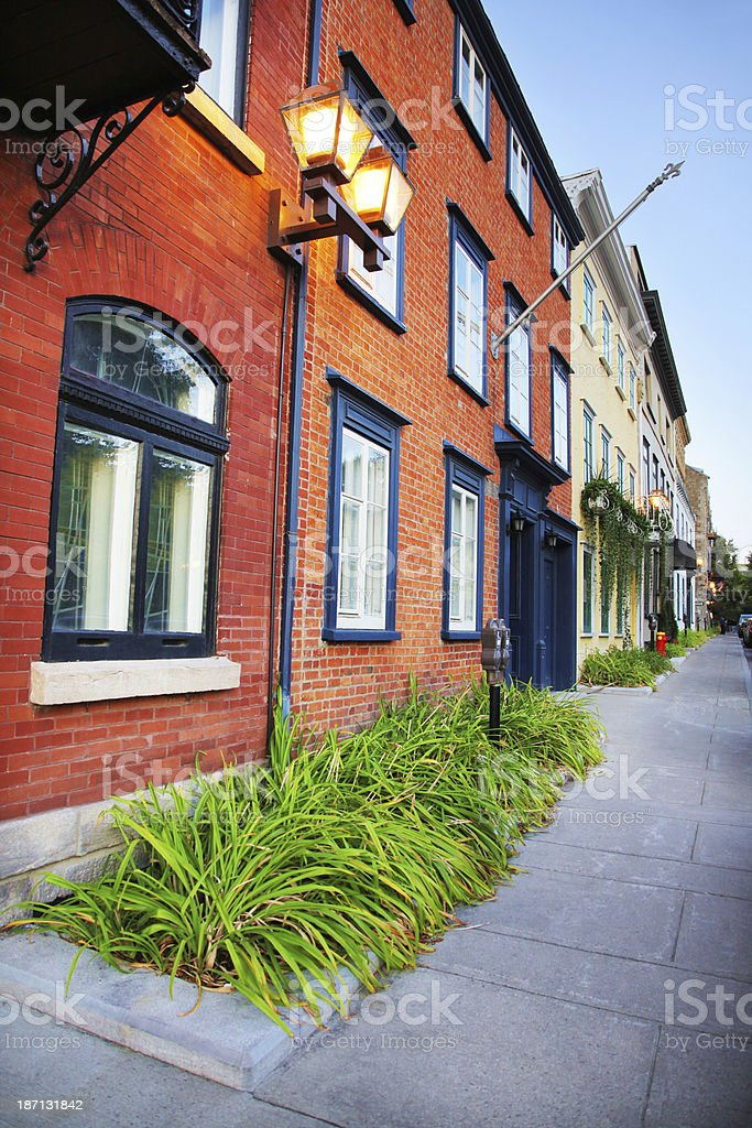 Colorful Old Quebec District Buildings royalty-free stock photo