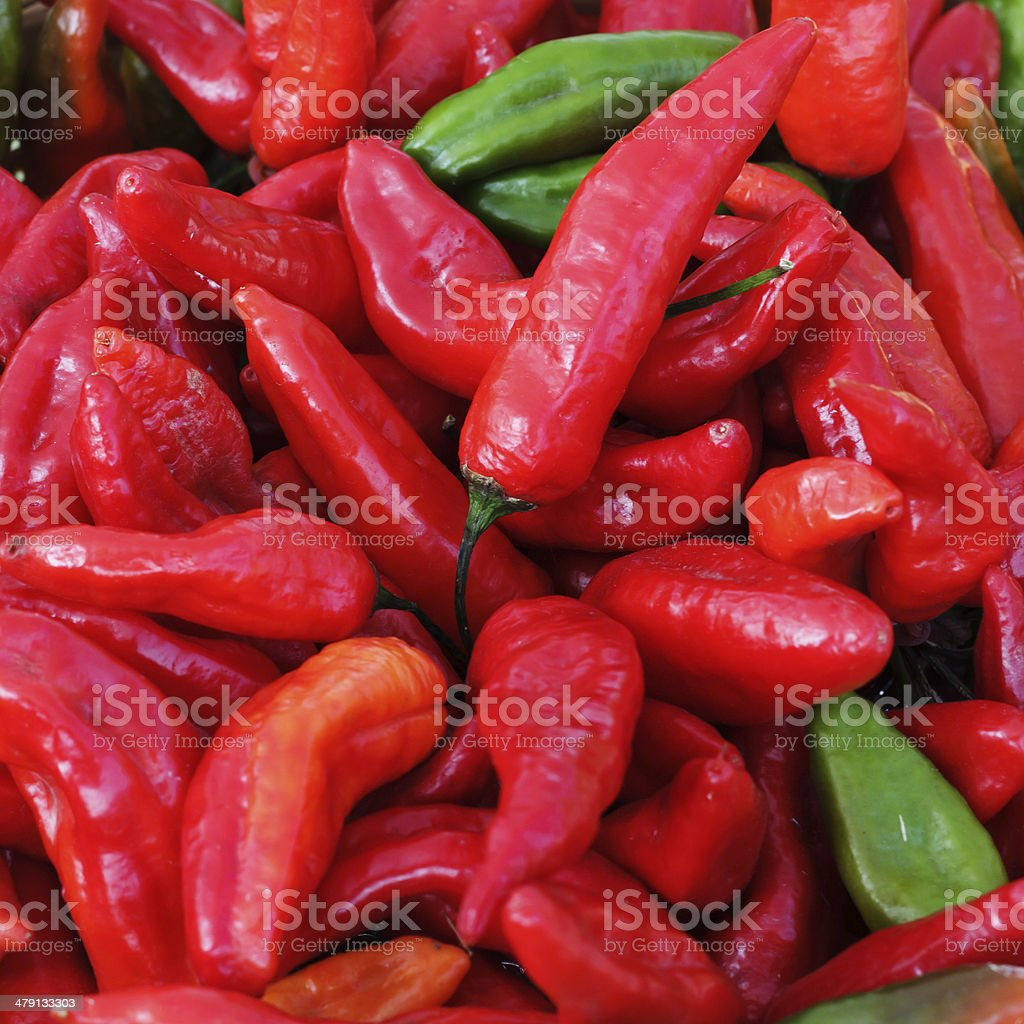 Colorful organic pappers stock photo