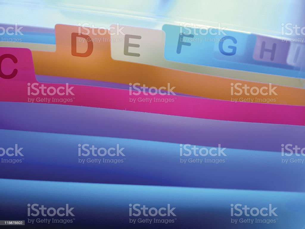 Colorful organizer with index royalty-free stock photo