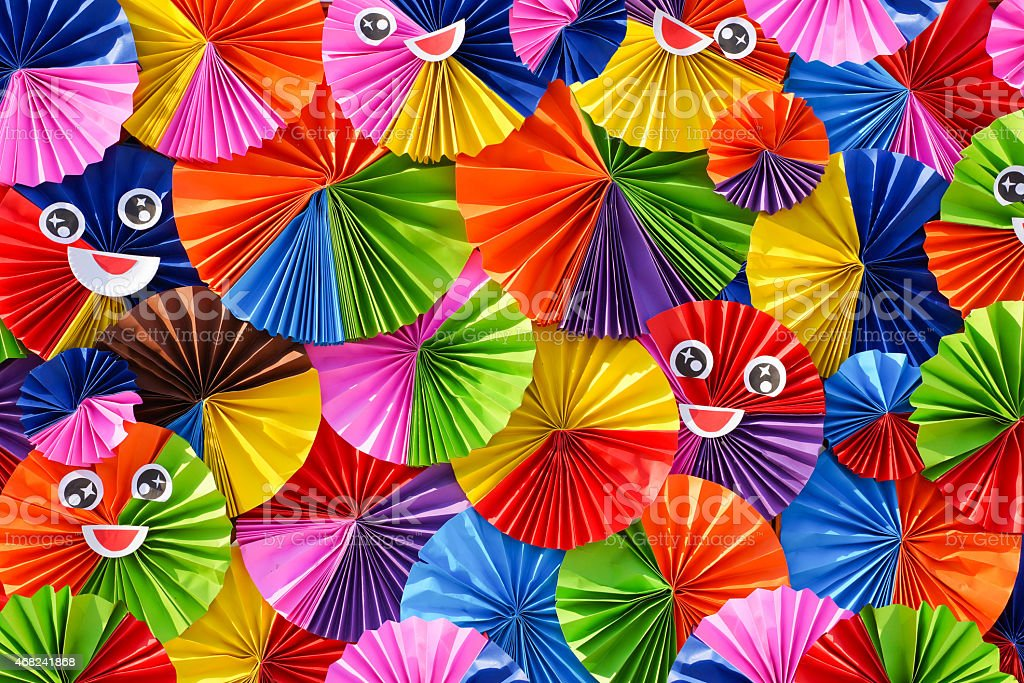 Colorful origami paper backdrop stock photo