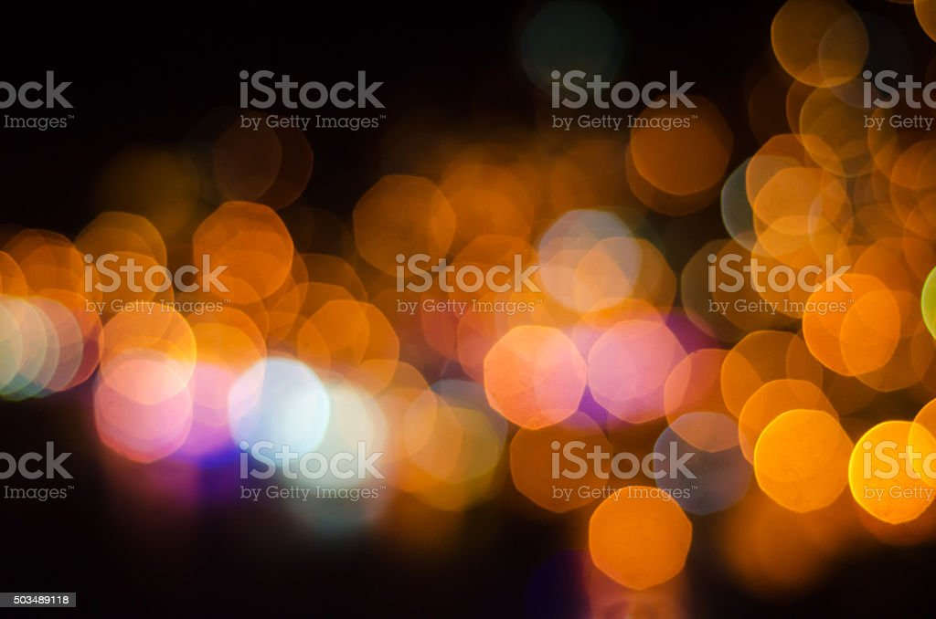 colorful out of focus lights stock photo