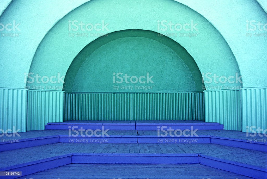 Colorful Outdoor Bandshell Stage stock photo