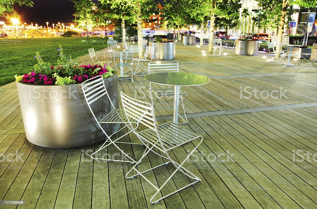 Colorful Outdoor Terrace stock photo