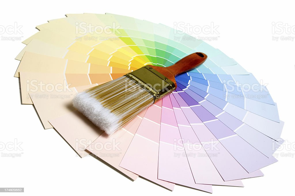Colorful Paint Color Swatches royalty-free stock photo