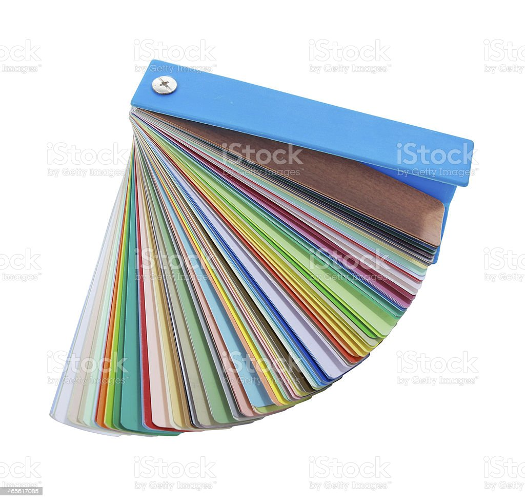 Colorful paint samples on white background royalty-free stock photo