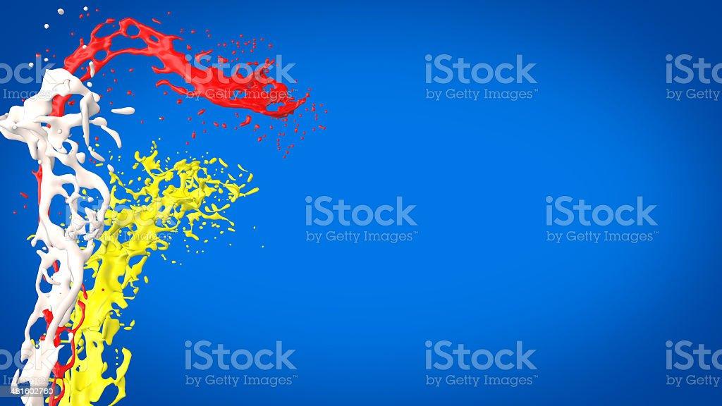Éclaboussures de peinture de couleur vive photo libre de droits