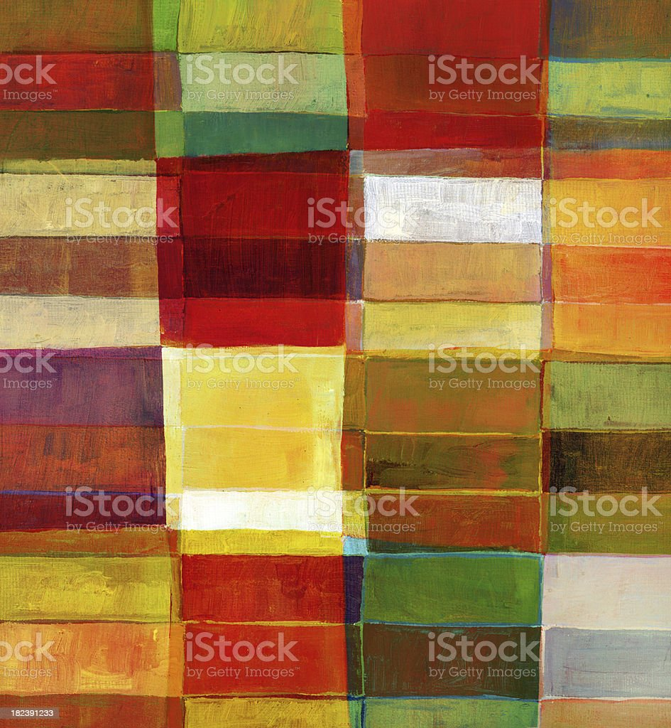 Colorful Painted Block Pattern royalty-free stock photo