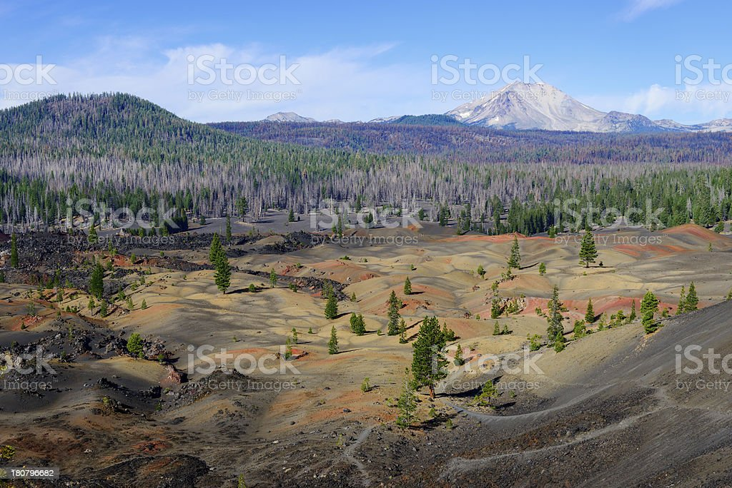 Colorful painted dunes stock photo