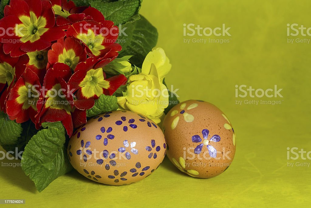 Colorful painted Easter eggs royalty-free stock photo
