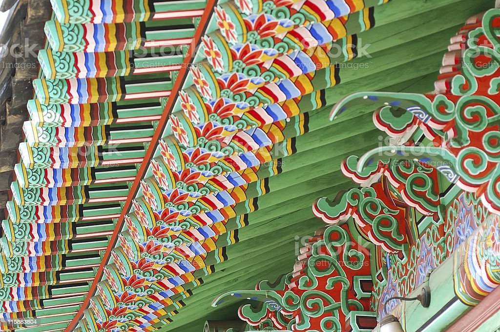 Colorful Painted Roof royalty-free stock photo