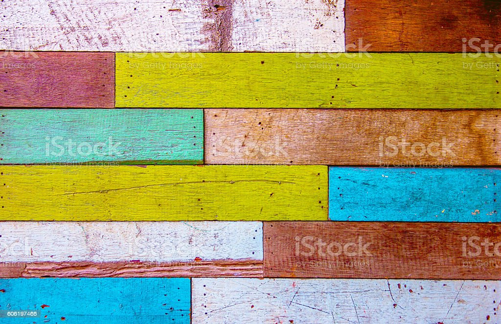 colorful painted wood stock photo