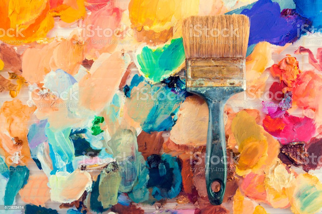 Colorful painting background stock photo