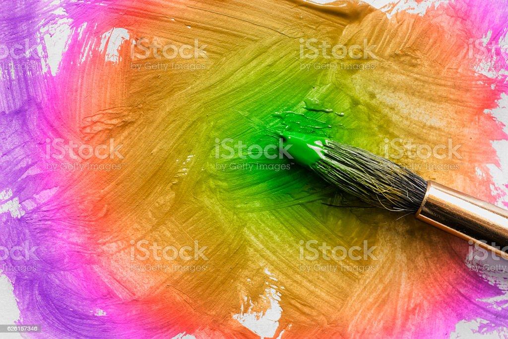 Colorful painting brush stock photo