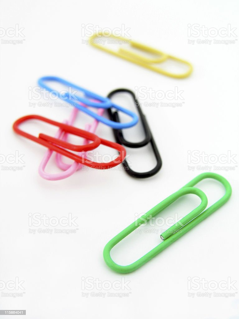 Colorful Paper Clips royalty-free stock photo