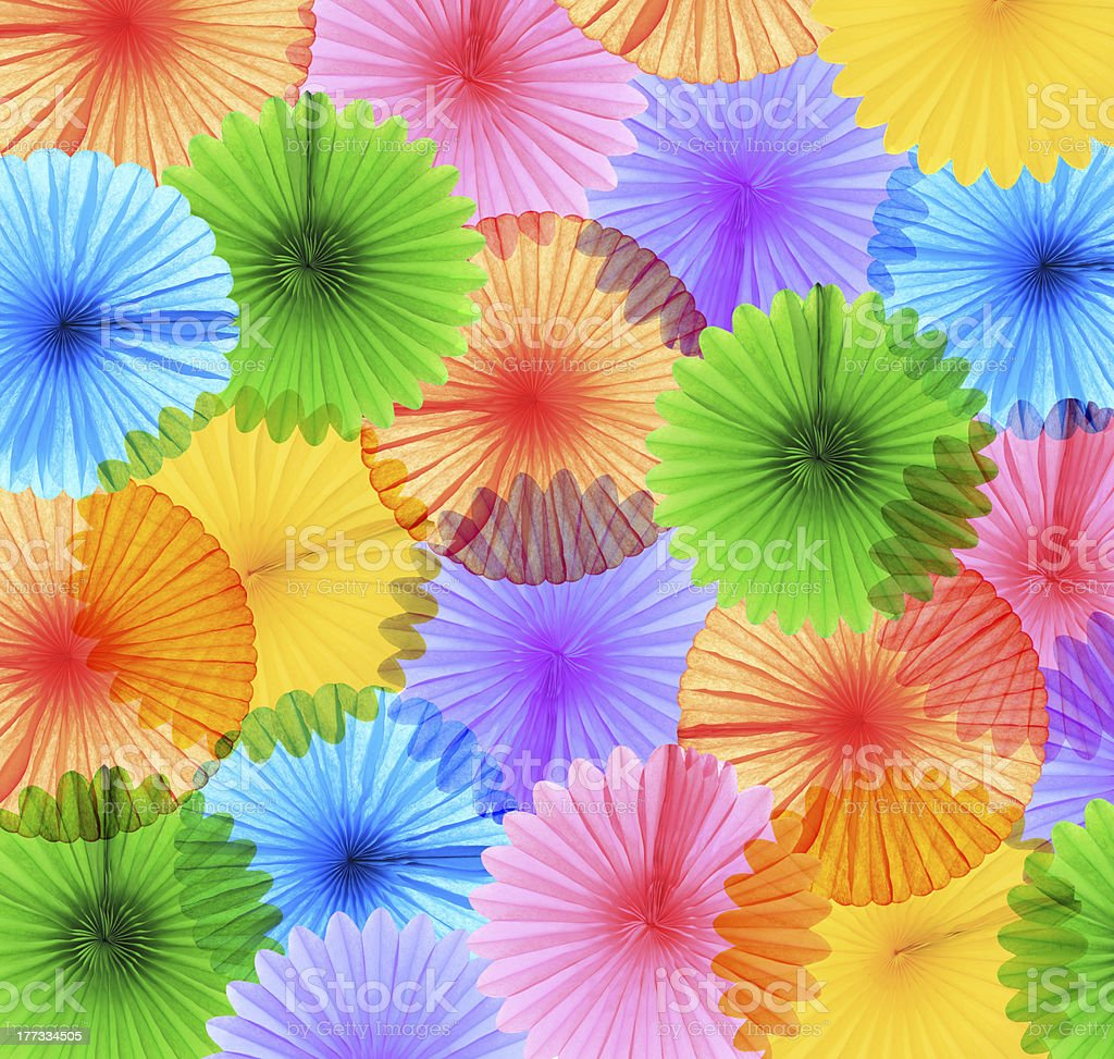 Colorful paper fans royalty-free stock photo