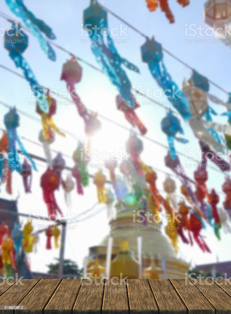 colorful paper lantern decoration for Yeepeng festival and golde stock photo