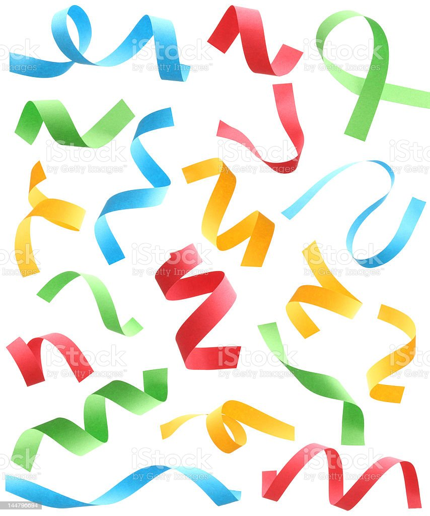 colorful paper scrip stock photo