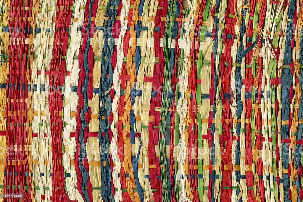 Colorful paper weave royalty-free stock photo