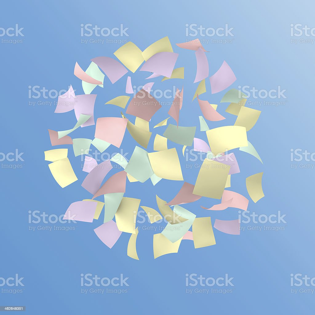 colorful papers stock photo