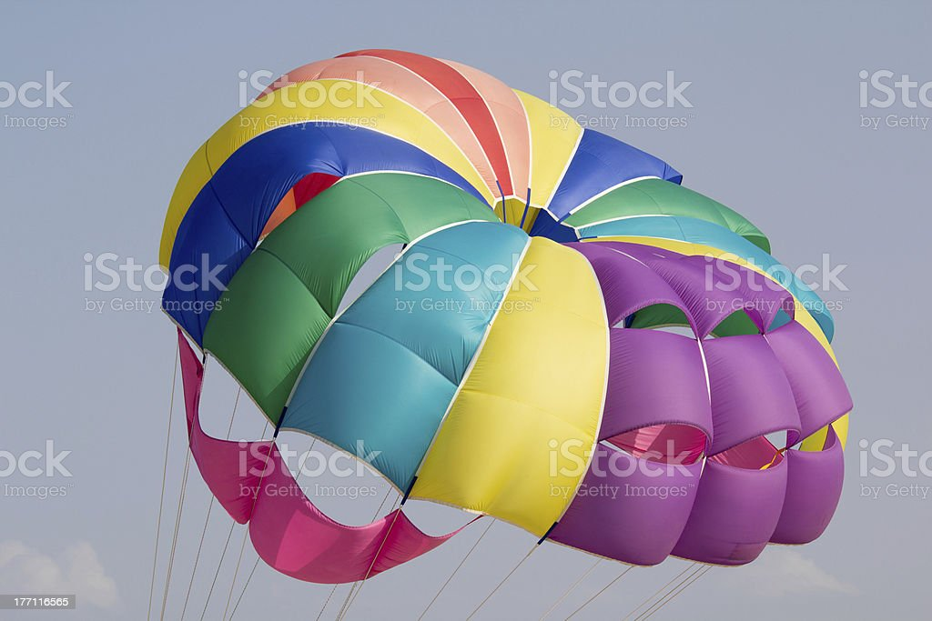 colorful parachute royalty-free stock photo