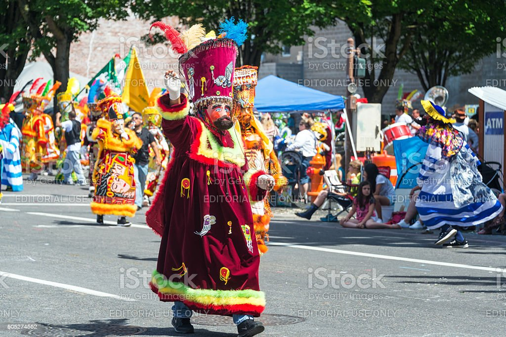 Colorful Parade Costume stock photo