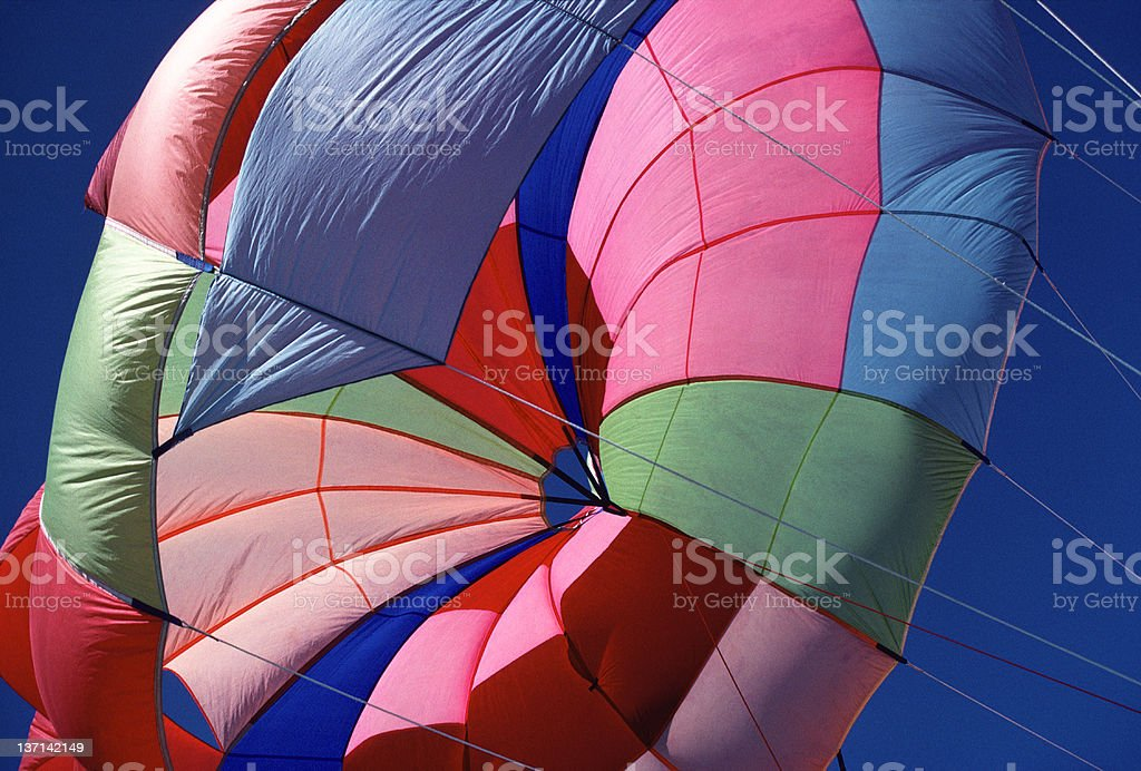 Colorful Parasail, St. Lucia, West Indies stock photo