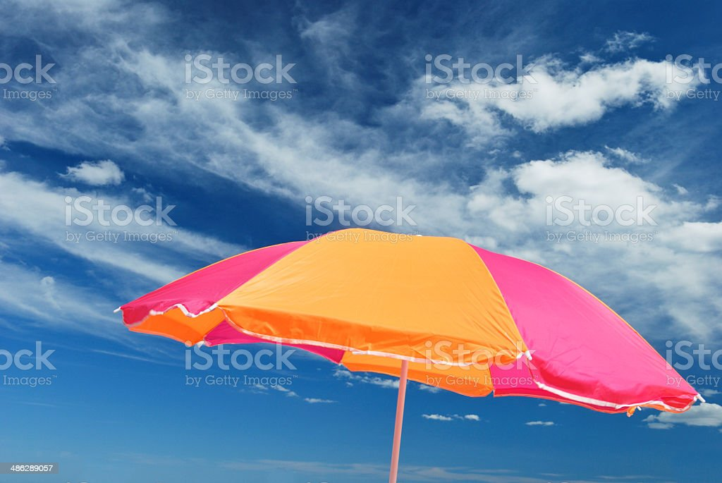 Colorful parasol stock photo