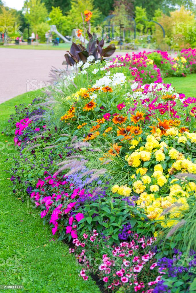 Colorful park stock photo