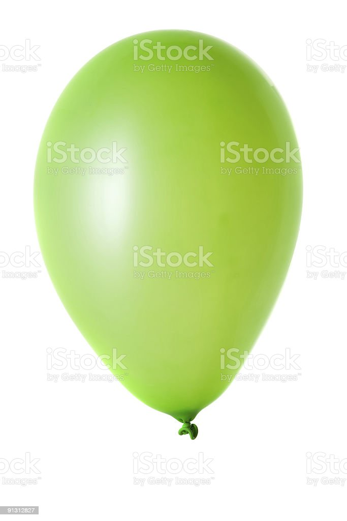 Colorful party balloon isolated over a white background. stock photo
