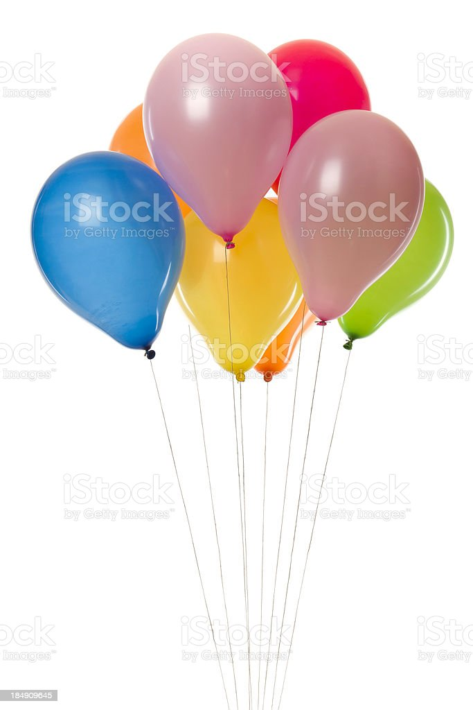 colorful party balloons royalty-free stock photo
