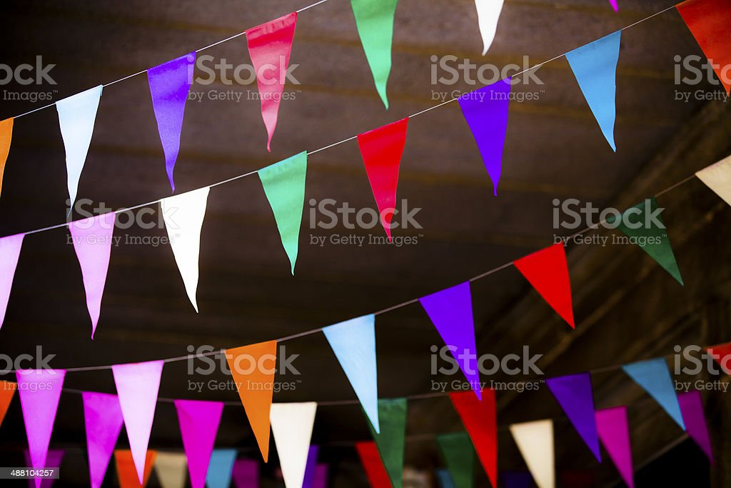 Colorful party flags royalty-free stock photo