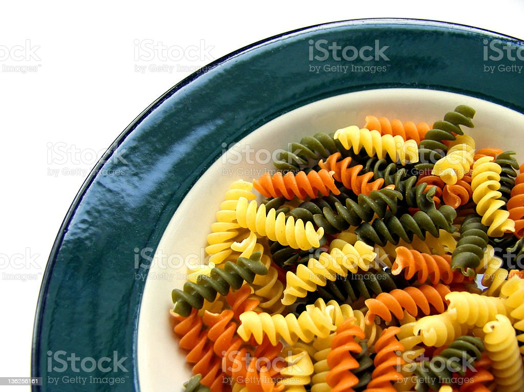 colorful pasta 1 royalty-free stock photo