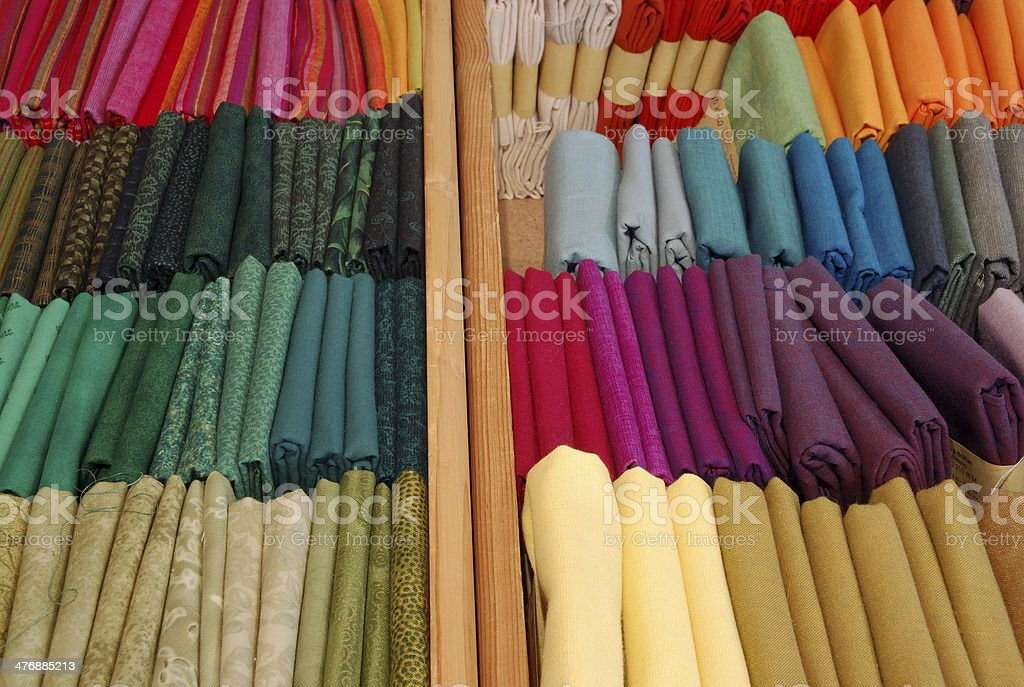 colorful patchwork cloths stock photo