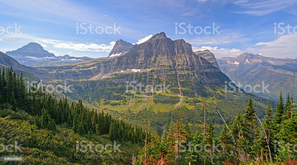 Colorful Peaks from an Alpine View stock photo