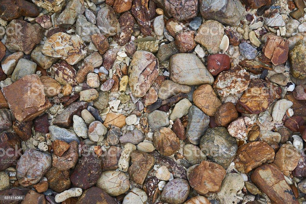 Colorful pebble stock photo