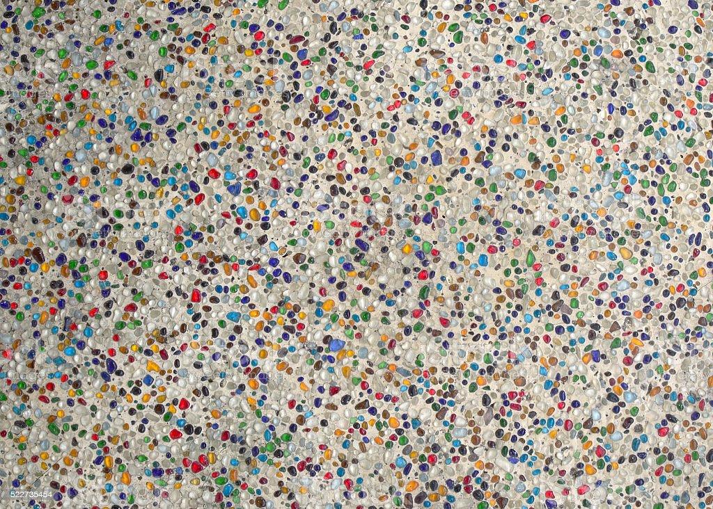 Colorful pebble stone floor stock photo