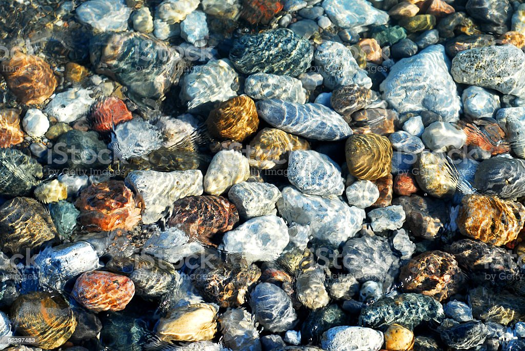 Colorful pebbles royalty-free stock photo