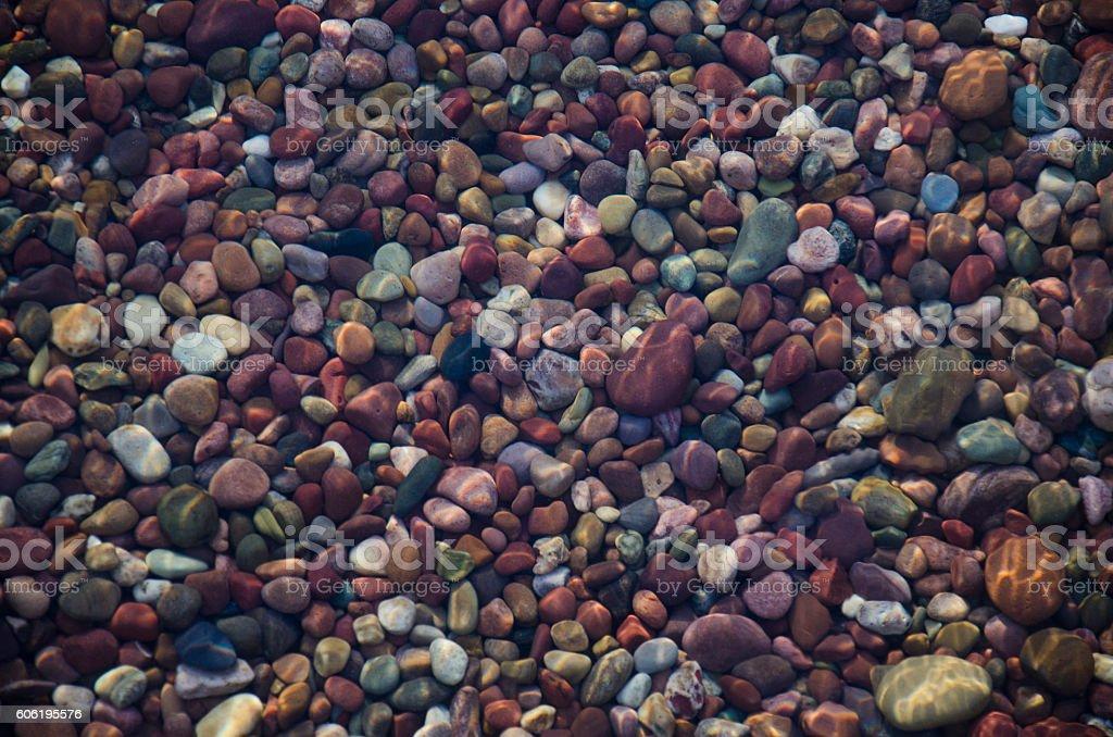 Colorful Pebbles Underwater stock photo