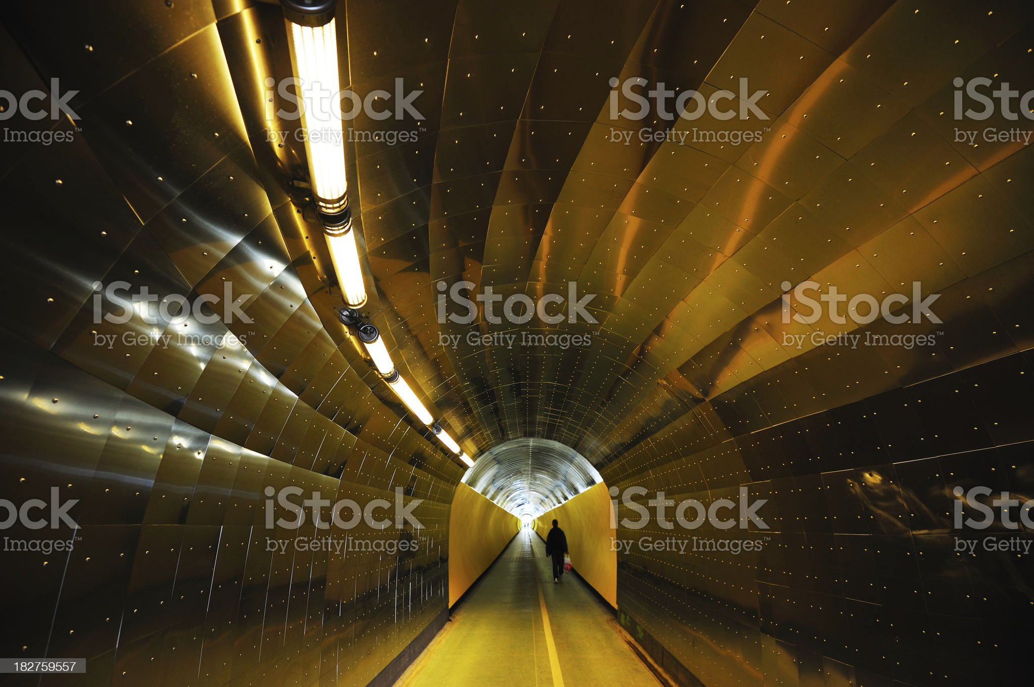 Colorful pedestrian tunnel royalty-free stock photo