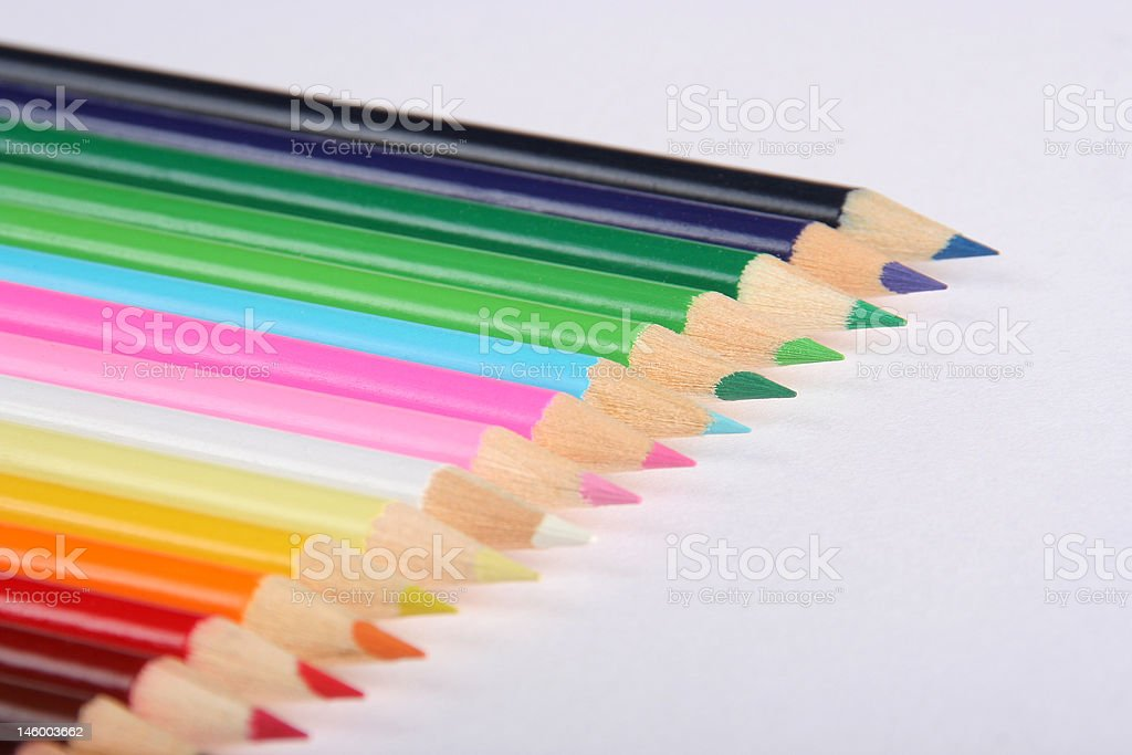 Colorful pencils closeup royalty-free stock photo