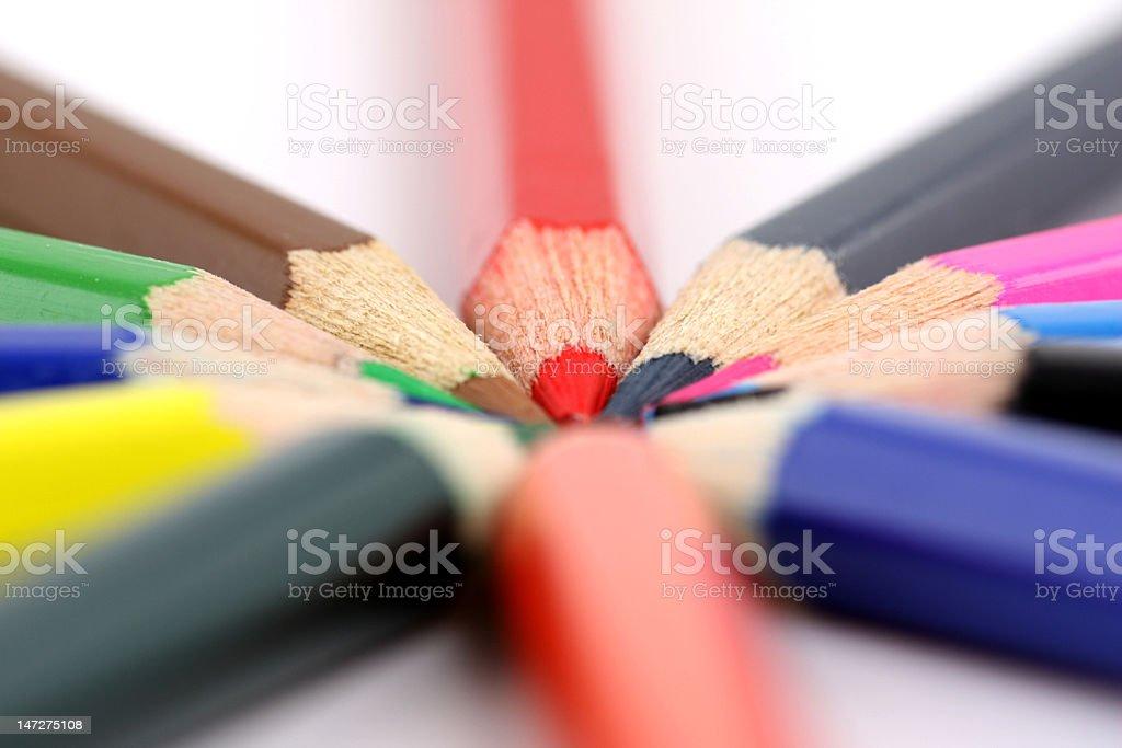 Bunte Bleistifte Lizenzfreies stock-foto