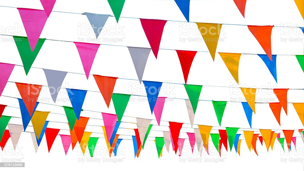 colorful pennant , flag stock photo