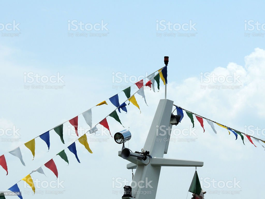Colorful Pennants stock photo