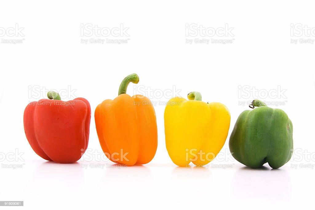 Colorful peppers royalty-free stock photo