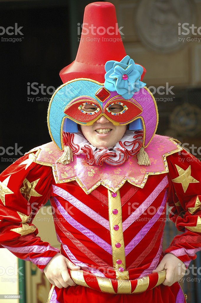 Colorful Performer royalty-free stock photo