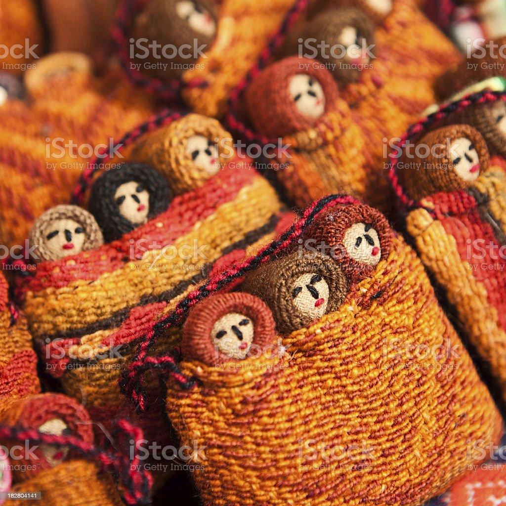 Colorful Peruvian dolls royalty-free stock photo