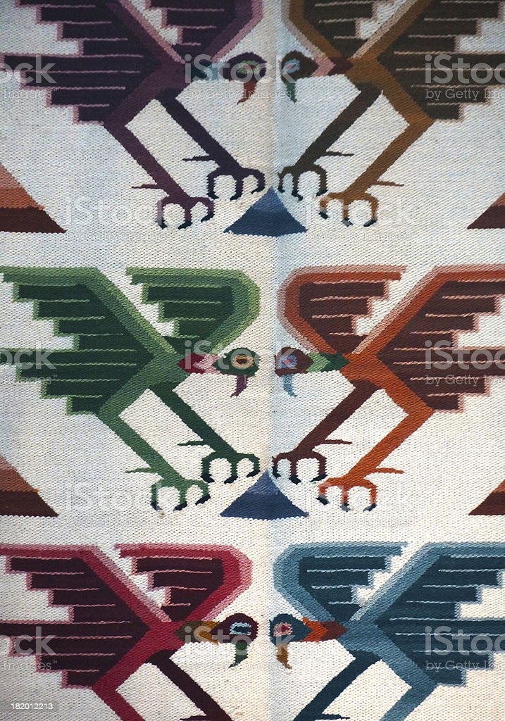 Colorful Peruvian textile royalty-free stock photo